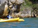Canoas en el pantano del Ebro