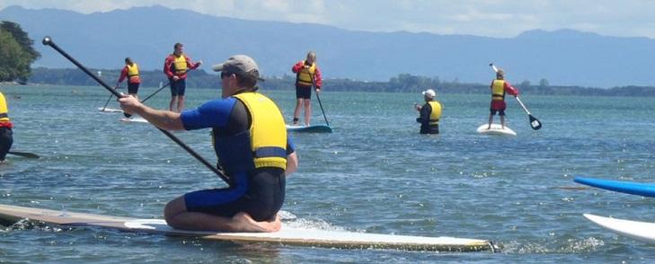 Paddle surf SUP en el pantano del Ebro