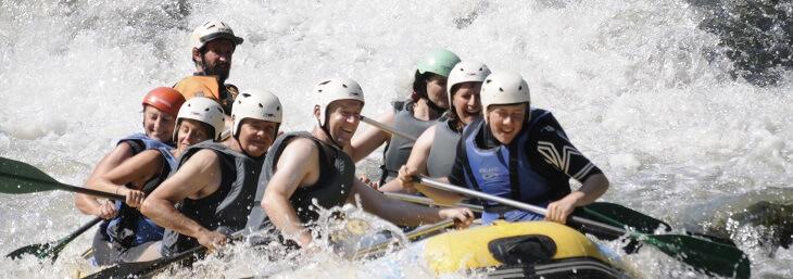 Rafing en Burgos en el cañón del río Ebro
